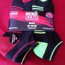6 Pair Ecko Unlimited Mens No Show Boat Socks Soft and Durable Black Heel 6-12