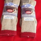 2 Pair Large Clear Creek 67% Merino Wool Heavy Hikers Sock 6-12 USA Red