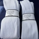 "6 Pairs Pocono  24"" Extra Long White Tube Sock Large Relax Fit USA Mens 6-15"