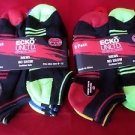 12 Pair Ecko Unlimited Mens No Show Boat Socks Soft and Durable Black Heel 6-12