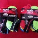 12  Pair Ecko Unlimited Boys No Show Boat Socks Soft  Durable Black Heel 9-2 1/2