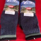2 Pair Large Clear Creek 45% Merino Wool Boot Sock 6-12 USA Blue