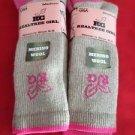 2 Pair Medium Realtree Girl 80% Merino Wool Tall Boot Sock Pink Heel Toe 6-9 USA