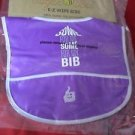 Sugar Bee E-Z Wipe Baby Bib Reusable 6 Months-3 Years Some for Me Purple