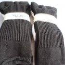 2 Pair Large Health White Cotton Coolmax Sole Socks 8-11 1/2 Made USA WhiteBlack