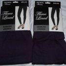 2 Pair Gold Medal  Seamless Womens Fleece Leggings Purple  Large/Extra Large