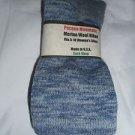 1 Pair Pocono 82%  Merino Wool Hiker Women Socks USA Shoe 5-10 Denim grey