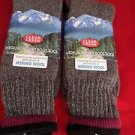 2 Pair Large Clear Creek 45% Merino Wool Boot Sock 6-12 USA Red Stripe