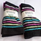 2 Pair Pocono 82%  Merino Wool Hiker Women Socks USA Shoe 5-10 Pink toe