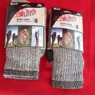 2 Pair Large High Rock Cotton Hiker Work Socks 9-12 Arch Support Made in USA