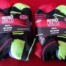 12 Pair Ecko Unlimited Boys No Show Boat Socks Soft Durable BlackHeel Toe 3-9