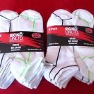 12 Pair Ecko Unlimited Mens No Show Boat Socks Soft Durable White Stripe 6-12