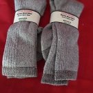 2 Pair Pocono 18% Merino Wool Hiker Sock 9-12 Mens Arch Support Made  USA Brown
