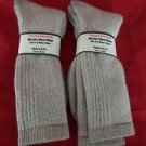 2 Pair Pocono 18% Merino Wool Hiker Sock 9-12 Mens Arch Support Made in USA Khak
