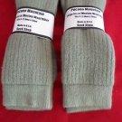 2 Pair Large Pocono Alpaca Merino Wool Heavy Hikers Crew Sock 9-12 Khaki USA