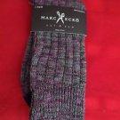 1 Pair Large Marc Ecko Cut & Sew Cotton Crew Socks 6-12 Black Toe Heel