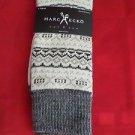 1 Pair Large Marc Ecko Cut & Sew Cotton Crew Socks 6-12 White Grey