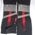 2 Pair Champion Correct Fit  Basketball Crew Socks Arch Support Red Black 6-12