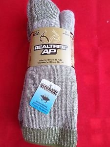2 Pair Large Real Tree 20% Wool Hiker Work Boot Socks 9-13 Arch Support Made USA
