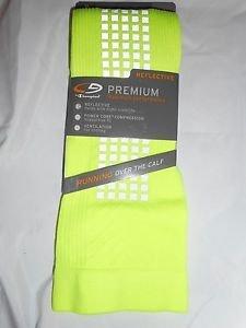 1 Pair Champion Maximum Performance Over the Calf Basketball Socks Yellow 6-12