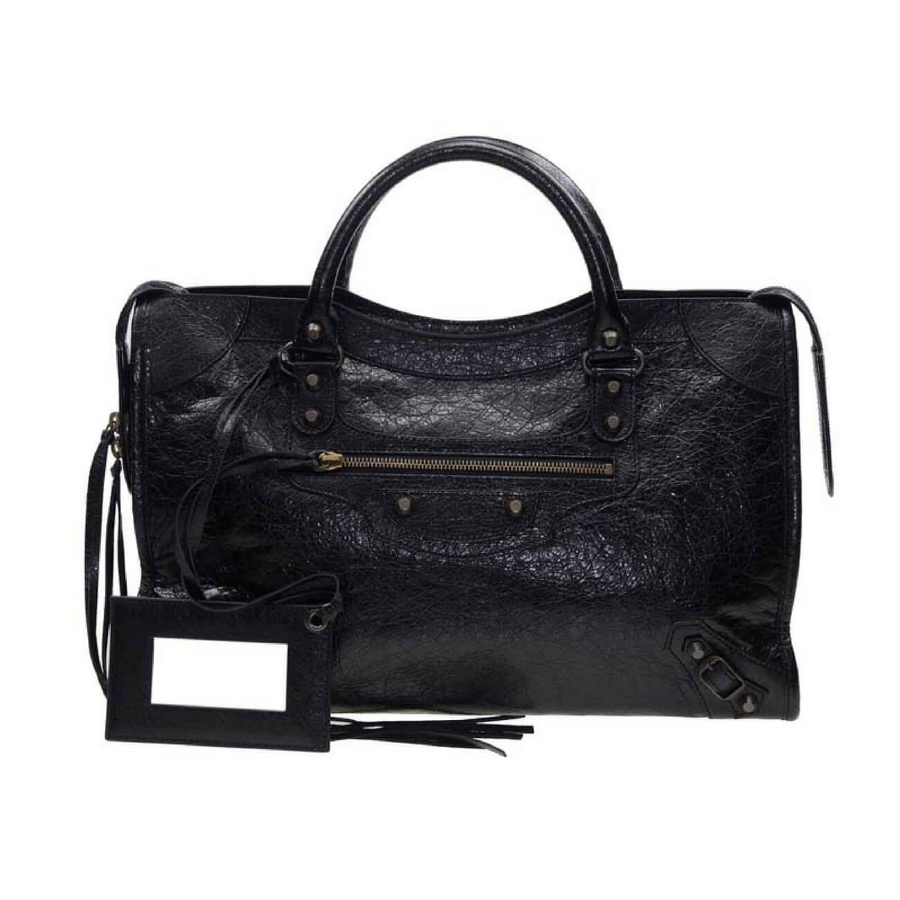 Balenciaga Classic City Shoulder Bag, Black