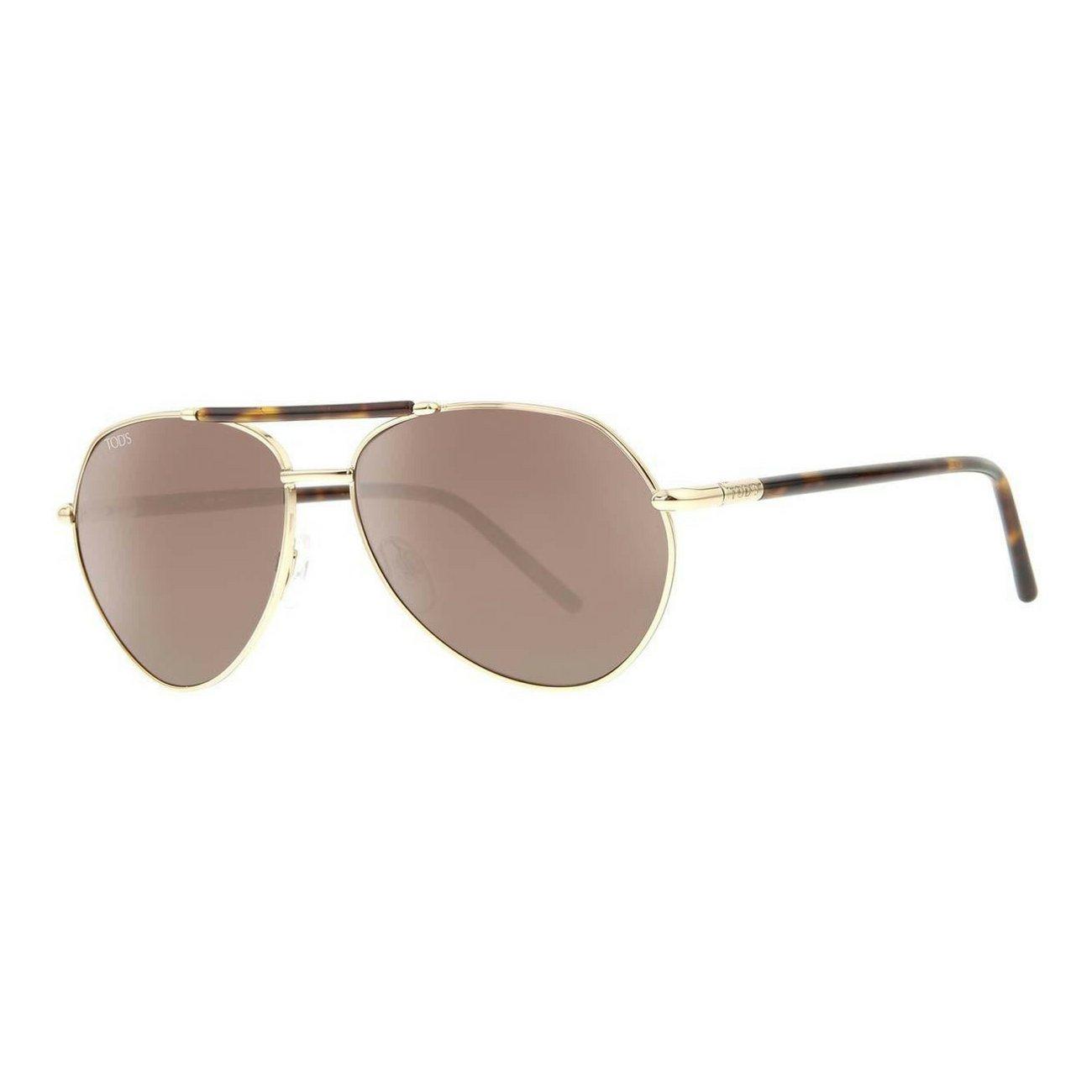 Tod's TO0123S-28J Women's Aviator Sunglasses, Gold