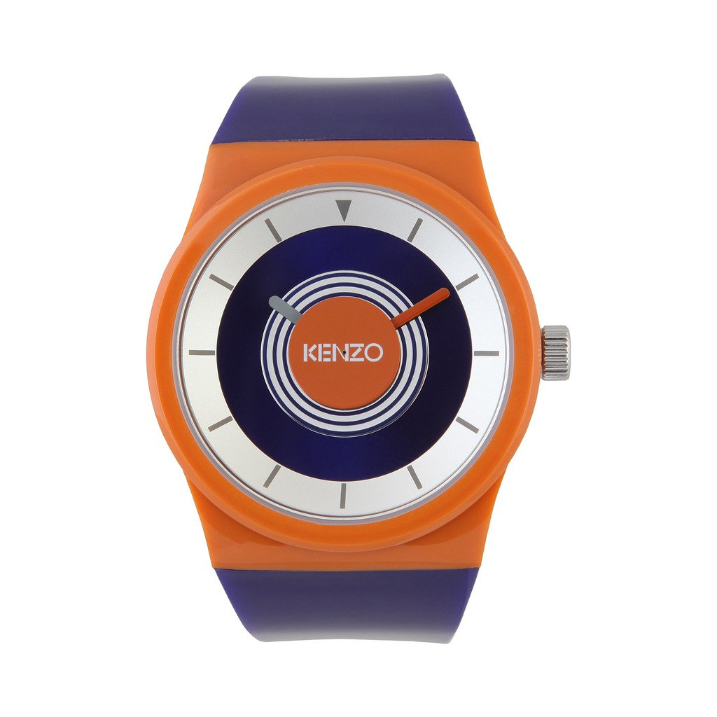 Kenzo K0034-002 Men's Watch, Orange & Navy Blue