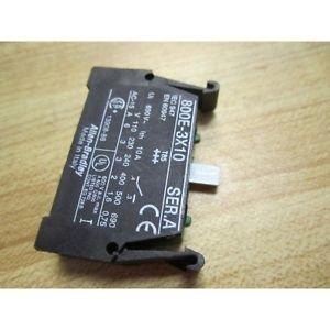 NEW ALLEN BRADLEY   800E-3X10  PUSHBUTTON SWITCH CONTACT BLOCK 10 AMP 800E3X10