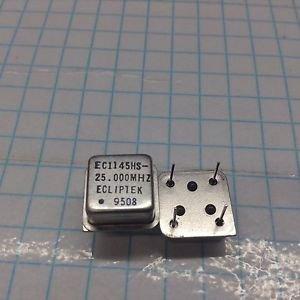 (5) ECLIPTEK EC1145HS-25.000 MHz 5V 8 PIN  HCMOS/TTL CRYSTAL OSCILLATOR
