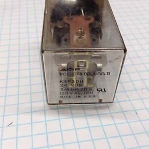 Potter & Brumfield KRP-3DH-24 Panel Plug-In Industrial Relay 24VDC