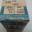 POTTER AND BRUMFIELD LM5 RELAY COIL SPDT 5A, NEW #205216