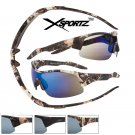 MEN'S DESIGNER INSPIRED CAMOUFLAGE SUNGLASSES with BLUE MIRROR LENS