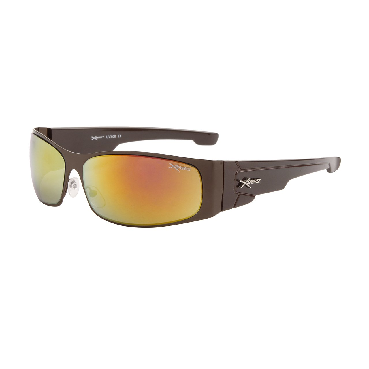 MEN'S DESIGNER INSPIRED BLACK FRAME SPORTY XSPORT SUNGLASSES