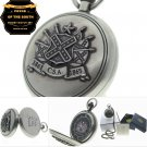 1861-1865 C.S.A. Pride of the South Memorial Silver Pocket Watch Men Gift Set 78