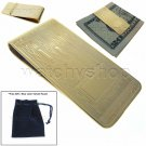 Brass Money Clip Wallet Gold Color Cash Credit Card Holder Men fashion M36