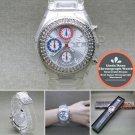 LINDA DANO Quartz Wrist Watch Japan SII Chronograph Quartz Stones Bezel Unisex
