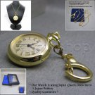 GOLD Vintage Antique Women Pendant Watch Quartz Gold Dial Necklace Key Chain L61