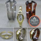 Linda Dano Quartz Bangle Watch + 2 Interchange Acrylic Bangles Women Gift WL42