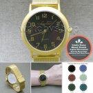 LINDA DANO Gold Quartz Wrist Analog MOOD Watch Stainless Steel Band Unisex 09