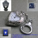 HEART Design Pendant Watch Women Gift 2 Ways - Necklace + Key Ring Gift Box L58