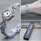 Marcasites Women Watch Antique Silver Pewter Fashion Jewelry Bracelet  LM03