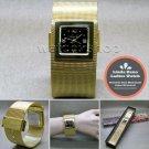 LINDA DANO Gold Women Wrist Watch Quartz Stainless Steel Mesh Band Bangle WL44
