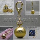 GOLD Women Pendant Watch Ball Design 2 Ways Key Chain and Necklace Gift Box L11