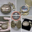 Compass Pocket Watch Style Liquid Fill Outdoor Camping Hiking with Key chain CP9