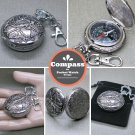 Pocket Watch Style Military Compass Liquid Outdoor Camping Hiking Key chain CP10