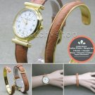 Linda Dano GOLD Women Watch with Matching Leather Bangle Japan Movement WL31