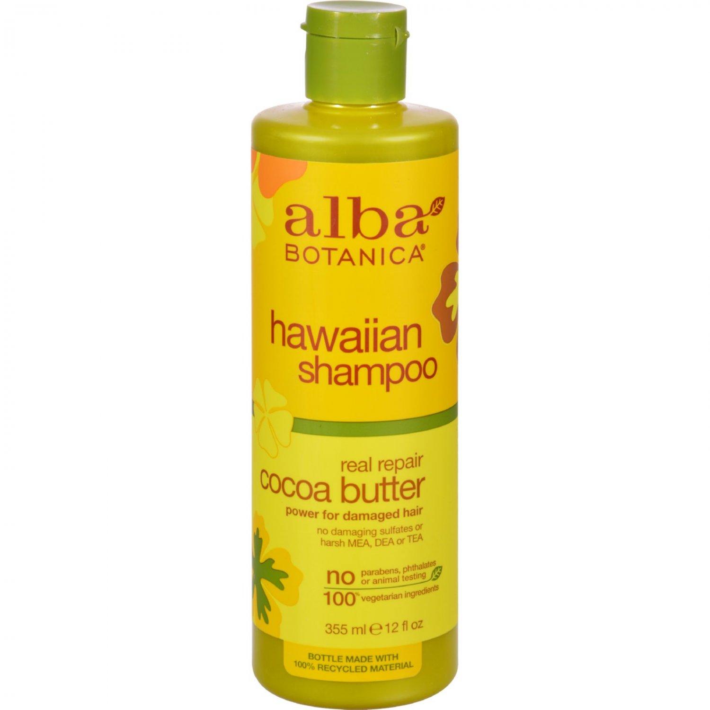 Alba Botanica Hawaiian Hair Wash Cocoa Butter Dry Repair - 12 fl oz