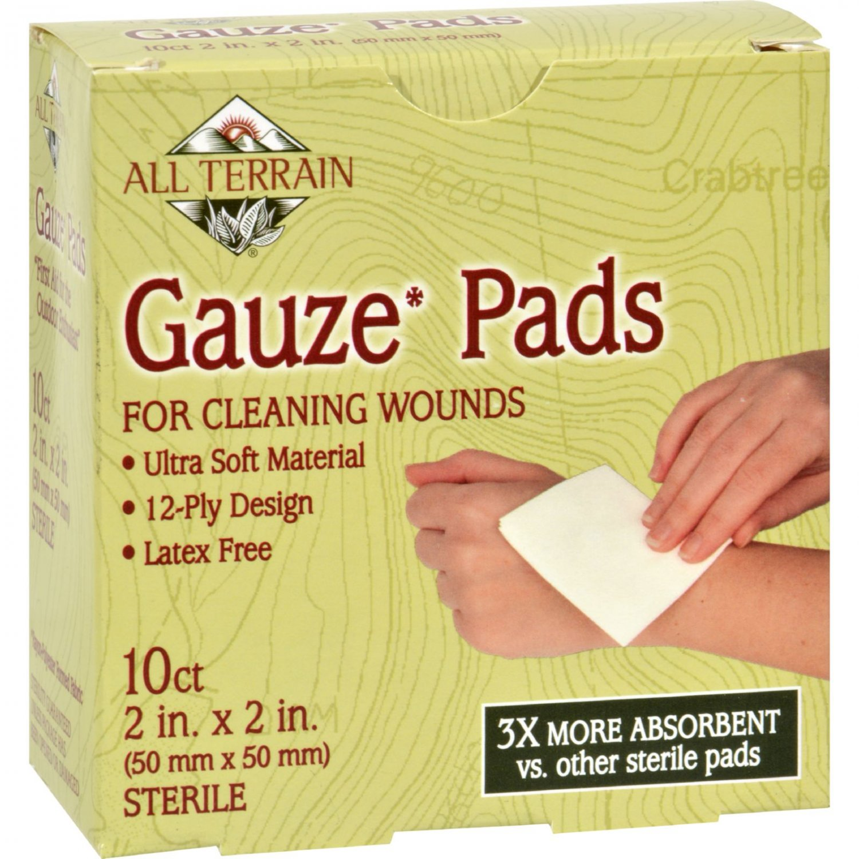 All Terrain Gauze Pads Latex Free - 10 Pads