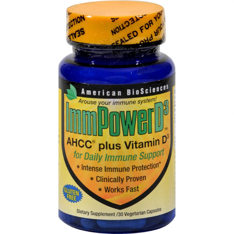American Bio-Sciences ImmPowerD3 - 30 Vegetarian Capsules