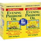 American Health Royal Brittany Evening Primrose Oil - 500 mg - 2 Bottles of 200 Softgels